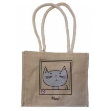 'Meow!' Jute Shopper Bag